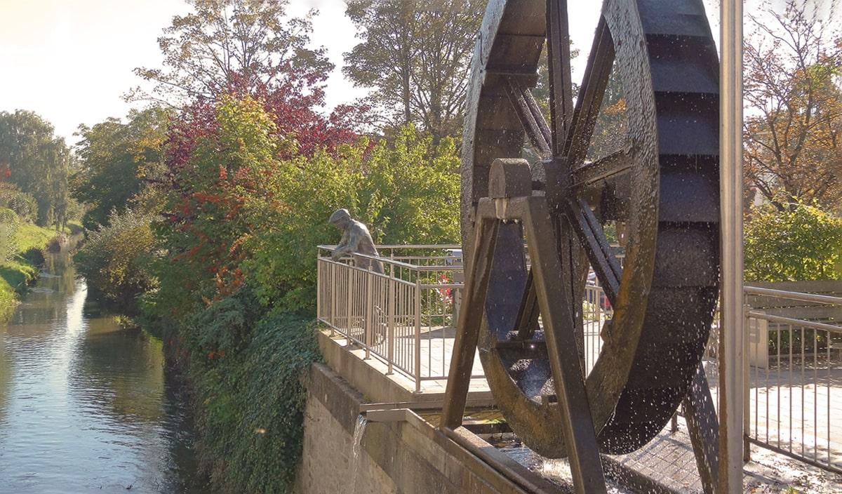 Banner Wasserrad