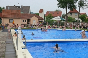 Blick ins Freibad